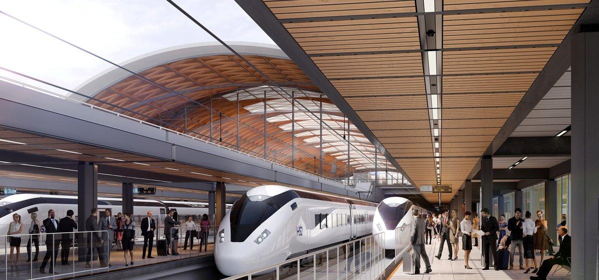 HS2 Artist Impression of station platforms